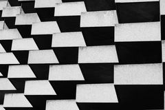 Geometric building. Black and white geometric building Royalty Free Stock Images