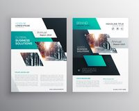 Geometric business brochure flyer design template. Geometric business brochure flyer design vector template stock illustration