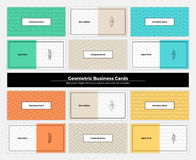 Geometric Business Cards 002 Royalty Free Stock Image