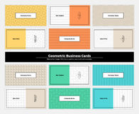 Geometric Business Cards 001 Royalty Free Stock Photo