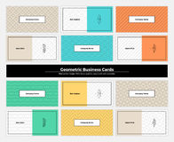 Geometric Business Cards 004 Royalty Free Stock Image