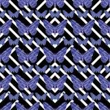 Geometric Butterflies Pattern Stock Photography
