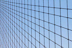 Geometric Cable Pattern of the Brooklyn Bridge Royalty Free Stock Photo
