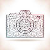 Geometric camera. Royalty Free Stock Photos