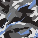 Geometric camouflage seamless pattern. Abstract modern military camo texture royalty free illustration