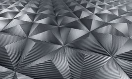 Geometric carbon fiber background Royalty Free Stock Photos