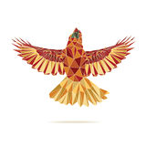 Geometric cardinal flying abstract colour Stock Image