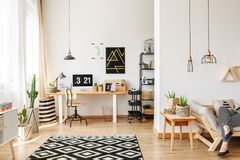 carpet for home office. Geometric Carpet In Home Office Stock Images For L