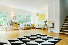 Open space interior with sofa royalty free stock photo