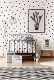 Monochromatic kids room with carpet stock images