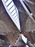 Geometric ceiling of airport royalty free stock photography