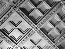 Geometric ceiling in black and white Royalty Free Stock Photography