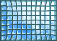 Geometric Ceiling Of Office Building Royalty Free Stock Photography