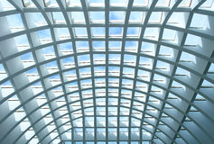 Geometric Ceiling Of Office Building Stock Photo