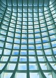 Geometric ceiling of office building Royalty Free Stock Images