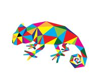Geometric Chameleon Royalty Free Stock Photos