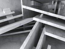 Geometric Chaotic Architecture Concrete Blocks Background. 3d Render Illustration royalty free illustration