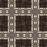 Geometric checkered abstract seamless pattern. Modern plaid tartan striped background. Repeat squares backdrop. Decorative stylish. Greek key meanders ornament stock illustration