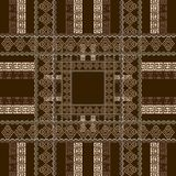 Geometric checkered greek vector  seamless pattern. Modern plaid tartan striped background. Repeat squares backdrop. Decorative. Greek key meander borders royalty free illustration