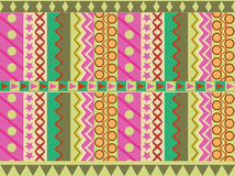 Geometric cheerful pattern Royalty Free Stock Photography