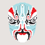 Geometric chinese mask Royalty Free Stock Images