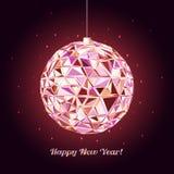 Geometric christmas ball. Holidays Background Royalty Free Stock Photo