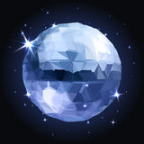 Geometric christmas ball. Holidays Background Royalty Free Stock Photography