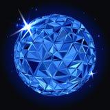 Geometric christmas ball. Holidays Background. Abstract Geometric christmas ball. 3D polygonal vector illustration, light effect Royalty Free Stock Image