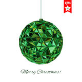 Geometric christmas ball. Holidays Background Royalty Free Stock Images