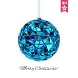 Geometric christmas ball. Holidays Background Stock Images