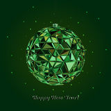 Geometric christmas ball. Holidays Background Stock Photo