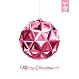 Geometric christmas ball. Holidays Background Stock Photography