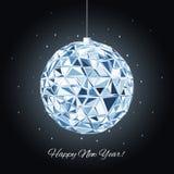 Geometric christmas ball. Holidays Background Stock Photos