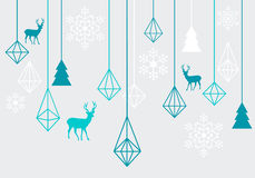 Geometric Christmas ornaments, vector Royalty Free Stock Photos