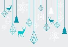 Geometric Christmas ornaments, vector Royalty Free Stock Photos