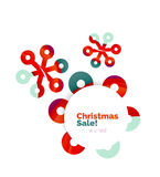 Geometric Christmas sale or promotion ad banner Royalty Free Stock Photo