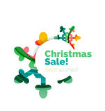 Geometric Christmas sale or promotion ad banner Royalty Free Stock Images