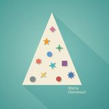 Geometric Christmas Tree. Abstract Geometric Christmas Tree, Flat Design. Vector Illustration EPS10 Royalty Free Stock Photos