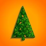 Geometric Christmas Tree Royalty Free Stock Photo