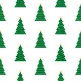 Geometric Christmas tree background. Geometric Christmas tree repeating background pattern Stock Photography