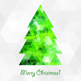 Geometric christmas tree. This is file of EPS8 format Stock Photo