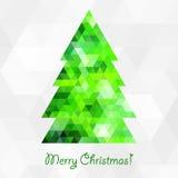 Geometric christmas tree Stock Photo