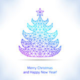 Geometric Christmas tree Royalty Free Stock Photos