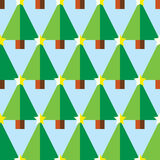 Geometric Christmas trees with star seamless pattern Royalty Free Stock Image