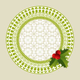 Geometric christmas wreath Royalty Free Stock Photo