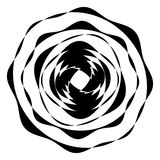 Geometric circle with distorted shapes rotating. Abstract circle Royalty Free Stock Photo
