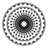 Geometric circle with distorted shapes rotating. Abstract circle Royalty Free Stock Photos