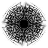 Geometric circle with distorted shapes rotating. Abstract circle Stock Photo