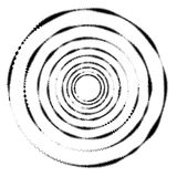 Geometric circle with distorted shapes rotating. Abstract circle Royalty Free Stock Images