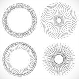 Geometric circle element, circle motif random edgy, angular line. S. Suitable as concentric design element, abstract motif, circular non-figural element Royalty Free Stock Photography